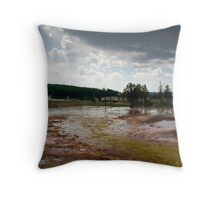 Grand Prismatic Springs Midway Geyser Basin Yellowstone NP Throw Pillow