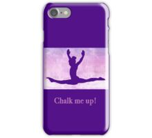 "The Gymnast ""Chalk me up!"" ~ Purple Version iPhone Case/Skin"