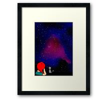 The night sky is always good to look at when deep in thought Framed Print