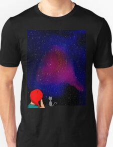 The night sky is always good to look at when deep in thought Unisex T-Shirt