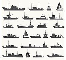 Ships set Photographic Print