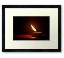 Indian Flame Framed Print