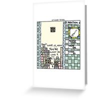127 Hours + Tetris Greeting Card