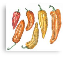Sweet Peppers Canvas Print