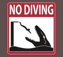 No Diving - Mosasaurus Warning Kids Clothes