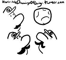 Horrible Drawings of Luigi - Three Luigi Moon by ChibiJame