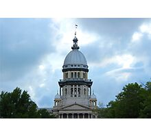 Springfield IL State Capitol Photographic Print