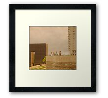 Discussion of Death Framed Print