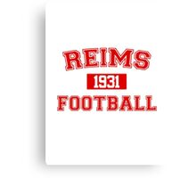 Reims Football Athletic College Style 1 Gray Canvas Print