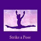"The Gymnast ""Strike a Pose"" ~ Purple Version by Susan Werby"
