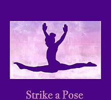 "The Gymnast ""Strike a Pose"" ~ Purple Version by Susan Werby"