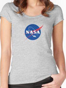 NASA LOGO FALC Women's Fitted Scoop T-Shirt