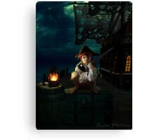 Yo Ho, A Pirates Life for Me Canvas Print