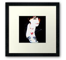 Tania Rose - robot tee self portrait Framed Print