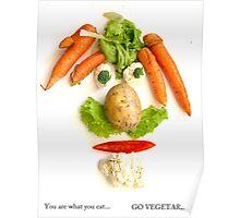 Go Vegetarian! Poster