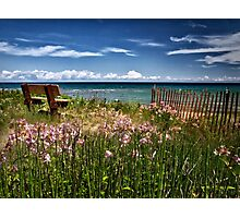 A Bench With a View Photographic Print