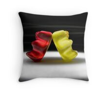 Gummy Bear Photography - I Got Your Back, You Got Mine.  Throw Pillow