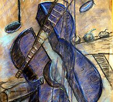 I painting  Blue Guitar after Pablo Picasso wrote about IT  by ejameson
