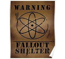 Fallout Shelter Gravity Falls Warning Sign Poster