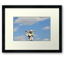 Guardian Angel Blue Skies  Framed Print