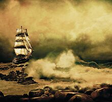 Storm At Sea (2) by Anna Shaw