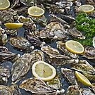 Oysters and Lemon Slices on Ice by Karen Martin