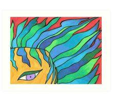 The Girl with Wavy Hair Art Print