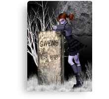 Nightmare .. tale of the undead Canvas Print
