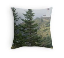 Foggy Swallowtail Throw Pillow