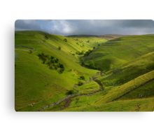 The Valley of Dowber Gill Beck Canvas Print