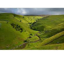 The Valley of Dowber Gill Beck Photographic Print
