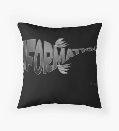 Info Fish Black Throw Pillow