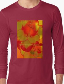 LIFE IS BEAUTIFUL WITH YOU. (CARD) Long Sleeve T-Shirt