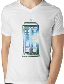TARDIS - 'It's bigger on the inside' quote Mens V-Neck T-Shirt