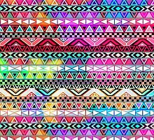 Colorful Tribal Pattern by neon-bullets