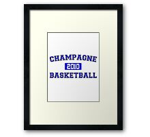 Champagne Basketball Athletic College Style 1 White Framed Print