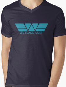 Weyland Corp logo - Alien - Blue Mens V-Neck T-Shirt