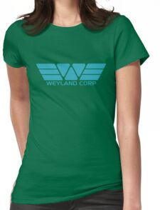 Weyland Corp logo - Alien - Blue Womens Fitted T-Shirt