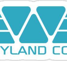 Weyland Corp logo - Alien - Blue Sticker