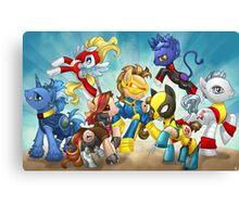 My Little Pony X-Men Canvas Print