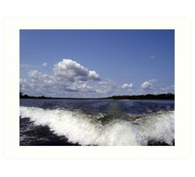 From the Back of the Boat Art Print
