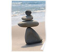 Four Grey Stones Poster