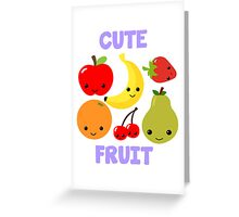 Cute Fruit Greeting Card
