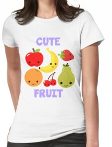 Cute Fruit Womens Fitted T-Shirt