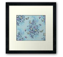 Beauty (eye of the beholder) - powder blue version Framed Print