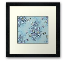 Beauty (eye of the beholder) - powder blue version Framed Print