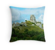 Corfe Castle, Dorset, England Throw Pillow