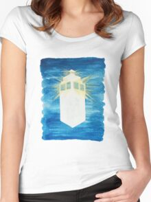 A Day in the Life of a TARDIS Women's Fitted Scoop T-Shirt