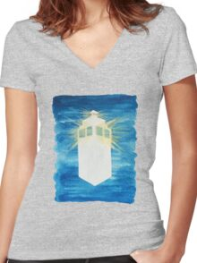 A Day in the Life of a TARDIS Women's Fitted V-Neck T-Shirt