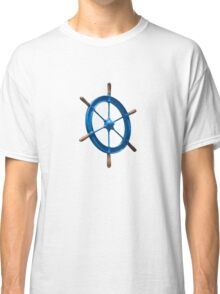 blue sailor wheel Classic T-Shirt